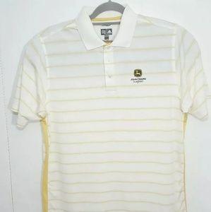 Adidas John Deere Golf Polo Mens L Shirt ClimaCool